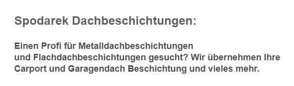 Flachdachbeschichtungen in 70794 Filderstadt - Plattenhardt, Sielmingen, Gutenhalde, Harthausen oder Bernhausen, Bonlanden