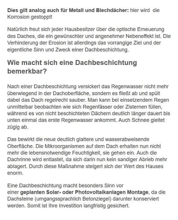 Dachbeschichtung Informationen für 79227 Schallstadt
