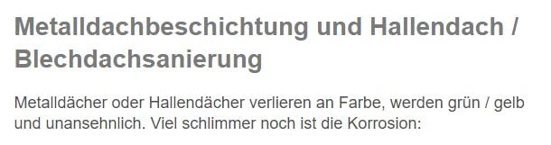 Hallendachsanierungen in  Schwäbisch Gmünd, Durlangen, Iggingen, Leinzell, Mutlangen, Waldstetten, Täferrot und Alfdorf, Ottenbach, Lorch